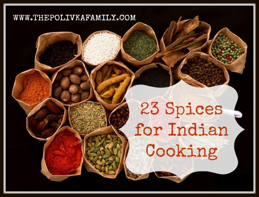 23 Spices for Indian Cooking